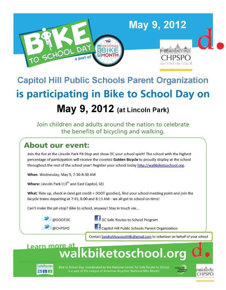 Get ready for the first ever National Bike to School Day on May 9