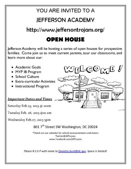 JA Open house feb flyer