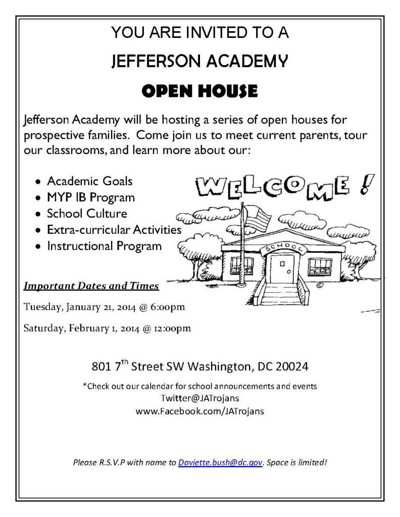 JA Open house flyer final