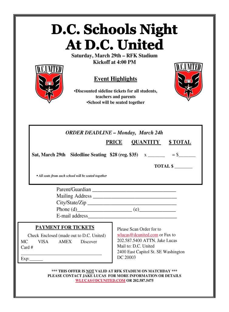 DC Schools Night Flyer Mail In