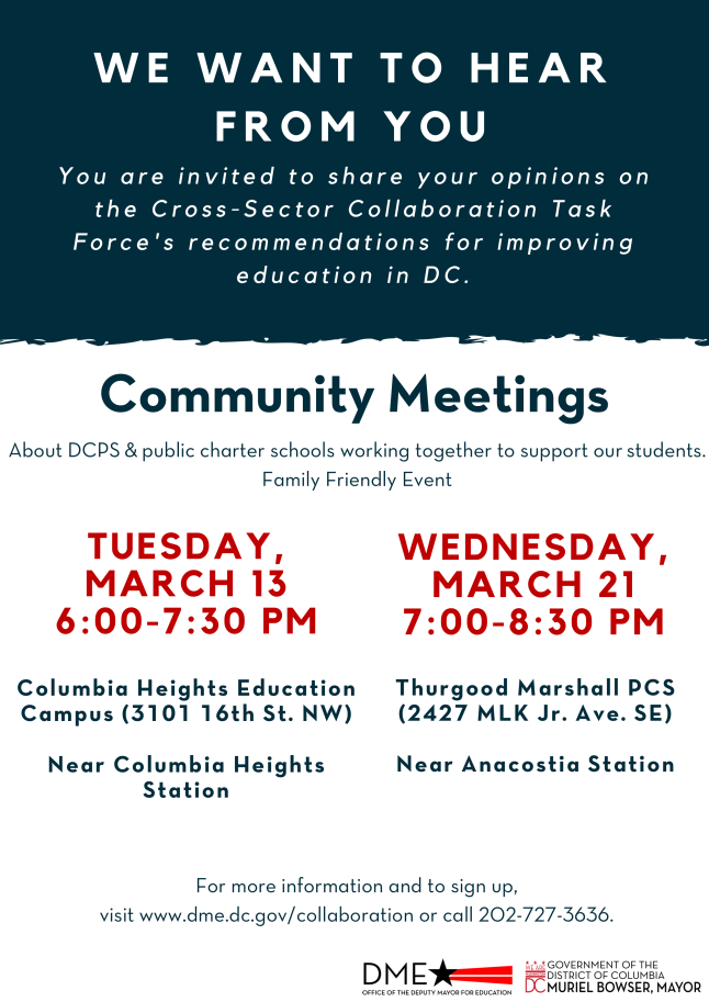 Cross Sector Community Meeting Flyer
