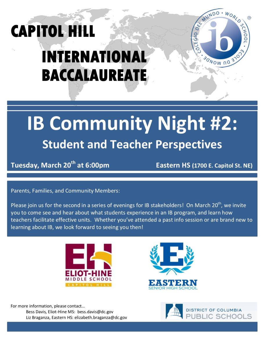 IB Community Night Flier #2