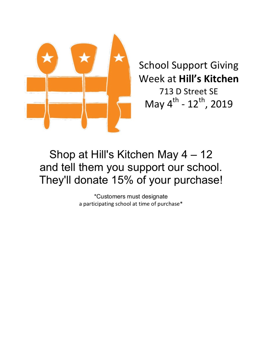 2019 School Support Giving Week at Hill
