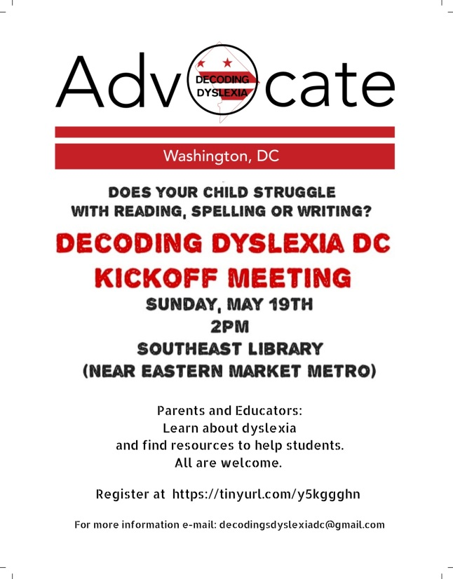 Decoding Dyslexia DC Flier with Registration Info