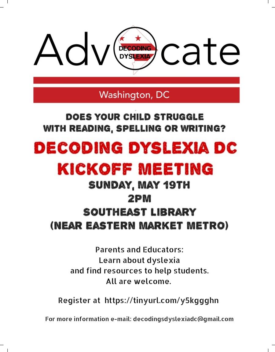 Decoding Dyslexia DC Flier with Registration Info