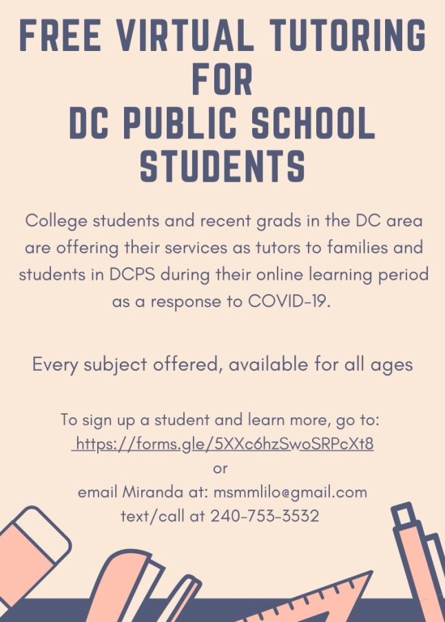DCPS Tutoring- Parent+Guardian Sign up Form